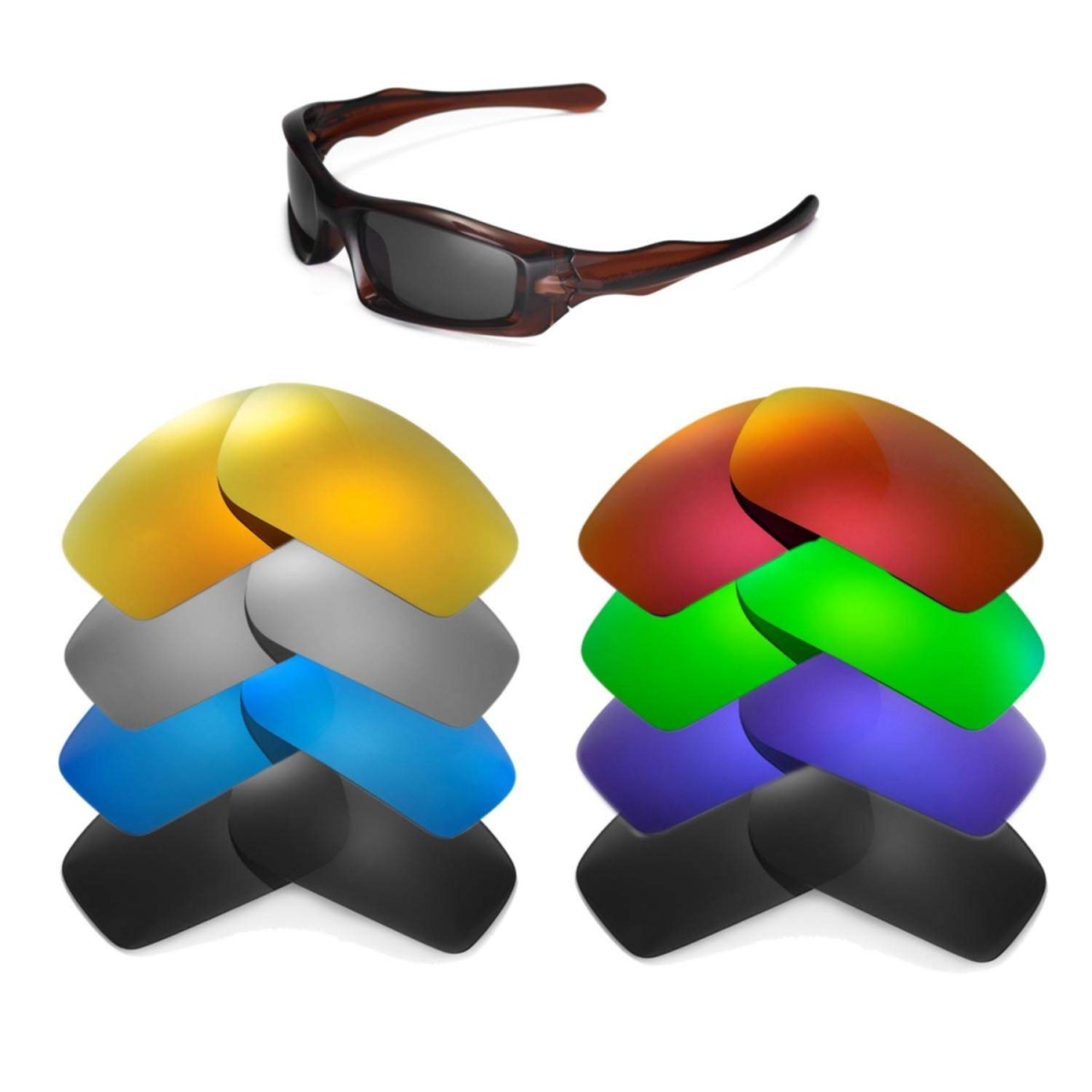c0b6d07ba0 Cofery Lenses Store Cofery Replacement Lenses for Oakley Monster Pup  Sunglasses