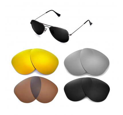 16a3af834d Cofery Replacement Lenses for Ray-Ban Aviator RB3044 52mm Sunglasses